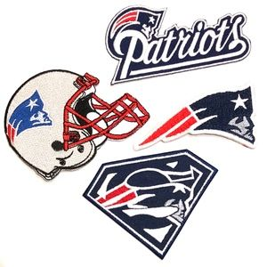 Accessories - Patriots Patch NFL New England Football iron DIY
